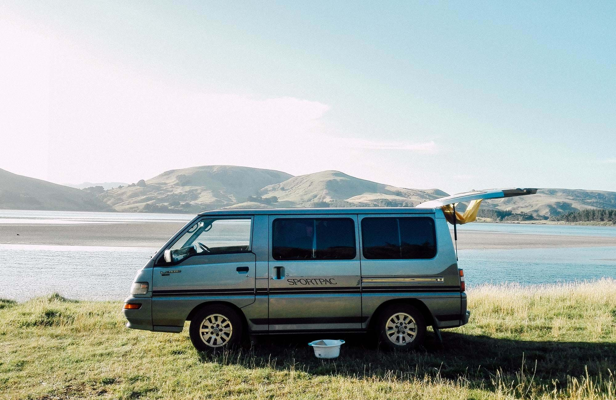 Campervan i Dunedin på New Zealand